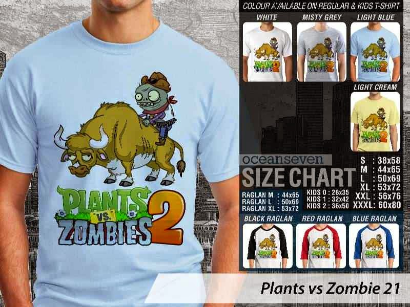KAOS Plants VS Zombie pvz 21 Game Lucu distro ocean seven