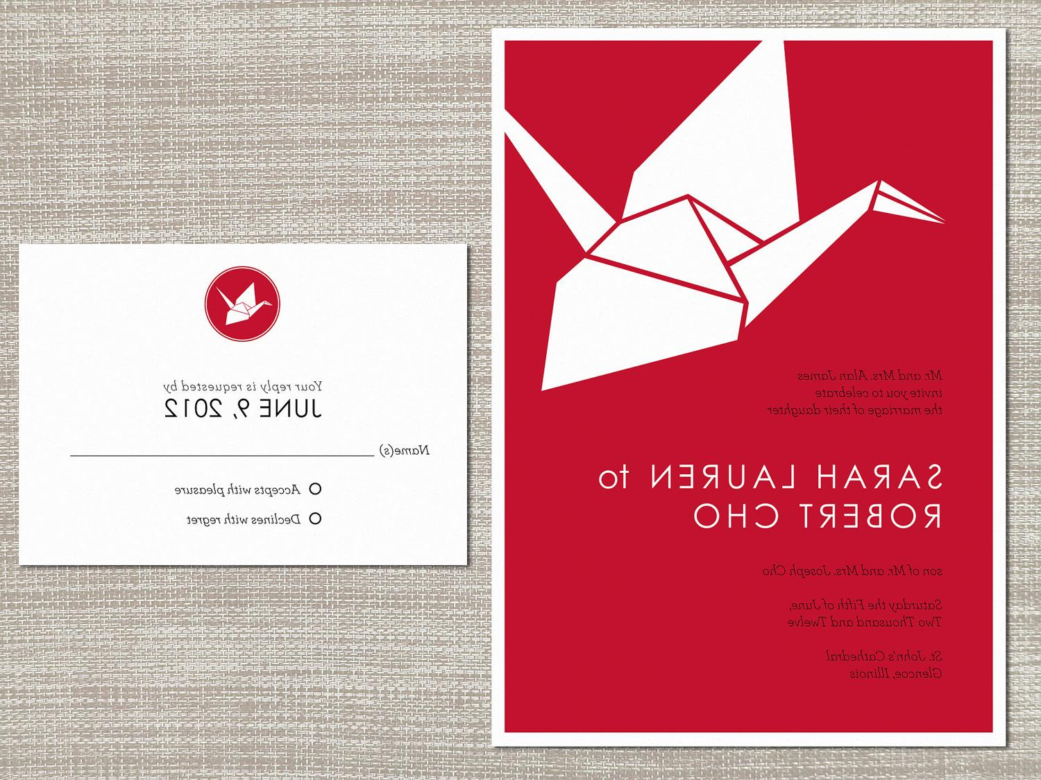 Kyoto : Origami Crane Wedding