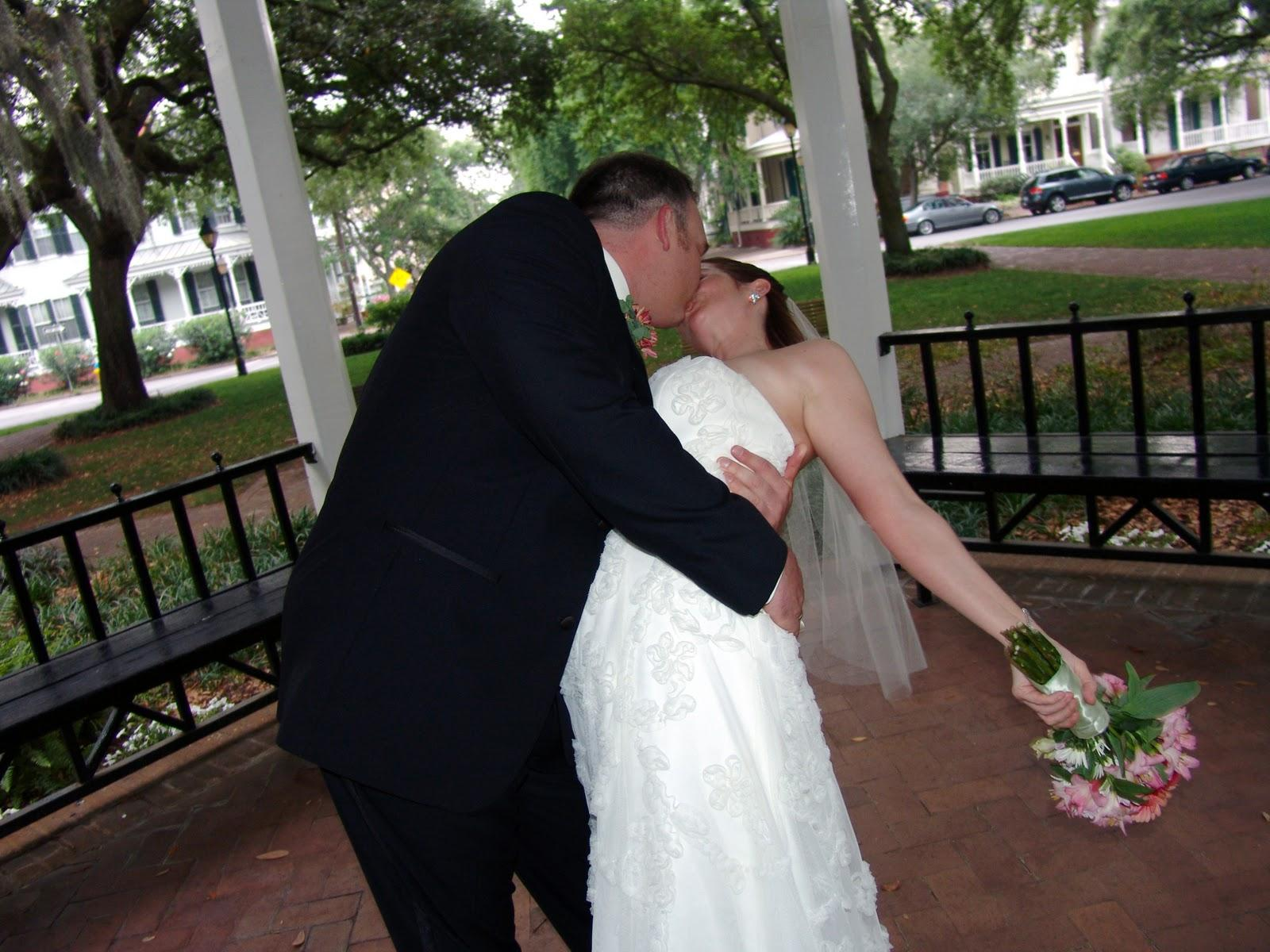 kiss on our wedding day