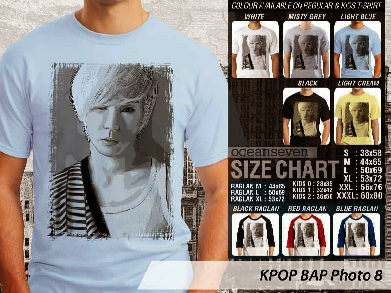 Kaos Bap 8 Photo K Pop Korea distro ocean seven