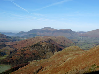 Skiddaw (where I am walking tomorrow) over High Rigg