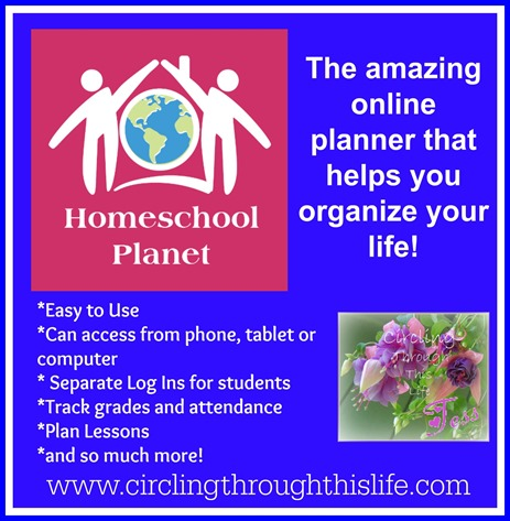 Homeschool Planet ~ Organize home and school! Read Tess's Review at Circling Through This Life