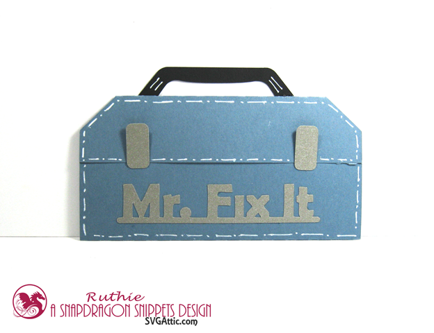 Toolbox Gift Card Holder - SnaoDragon Snippets -Father's Day Gift Card - Ruthie Lopez