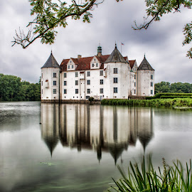 Glucksburg Castle (Germany) by Gianluca Presto - Buildings & Architecture Homes ( water, home, reflection, water reflection, romantic, reflections, lake, house, architecture, landscape, historic, glucksburg, ancient, nature, legend, long exposure, castle, homes, longexposure, medieval )