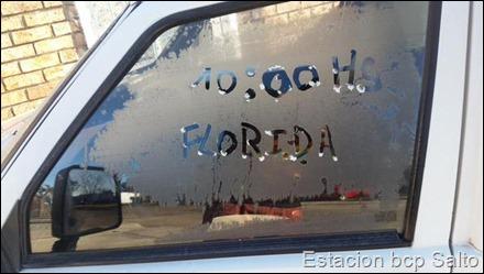 Aún Firme la helada (Florida Uruguay)...enviado por @TIOJUAN90