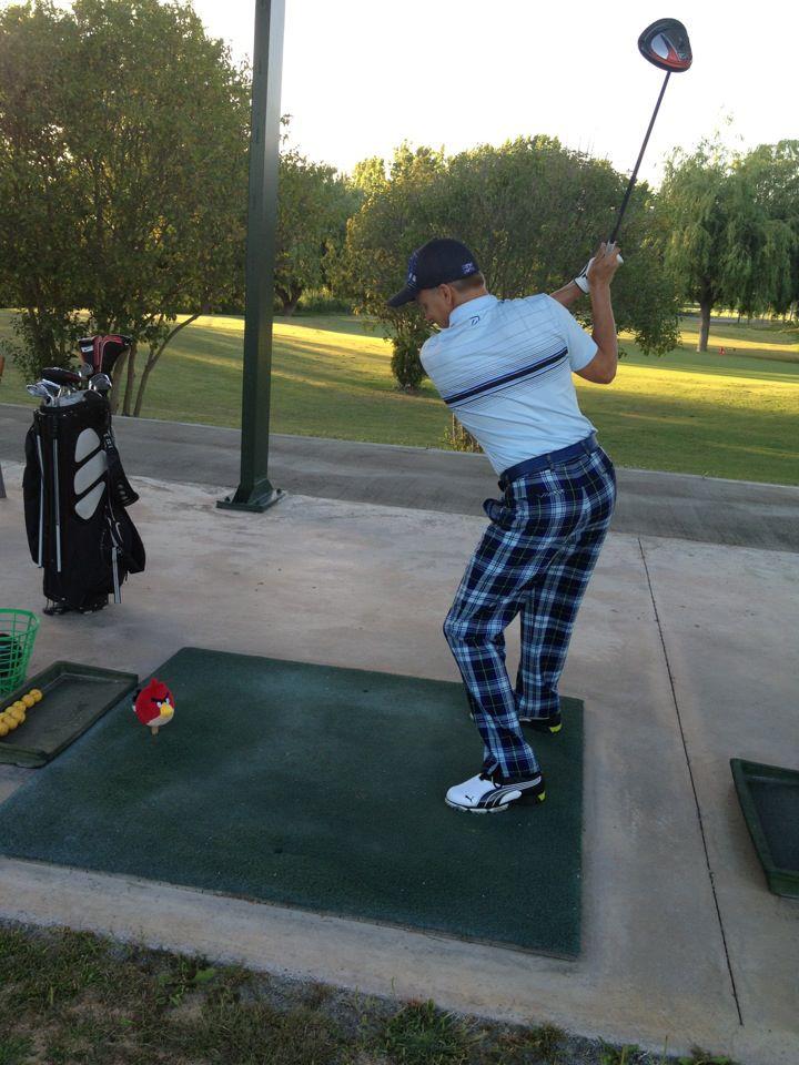 Хейкки Ковалайнен играет в гольф с Angry Birds 14 мая 2012