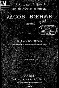 Cover of Emile Boutroux's Book Le Philosophe Allemand Jacob Boehme (1888,in French)