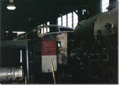 04 Delaware & Hudson Alco PA-1 #18 at the Brooklyn Roundhouse in Portland, Oregon on August 25, 2002