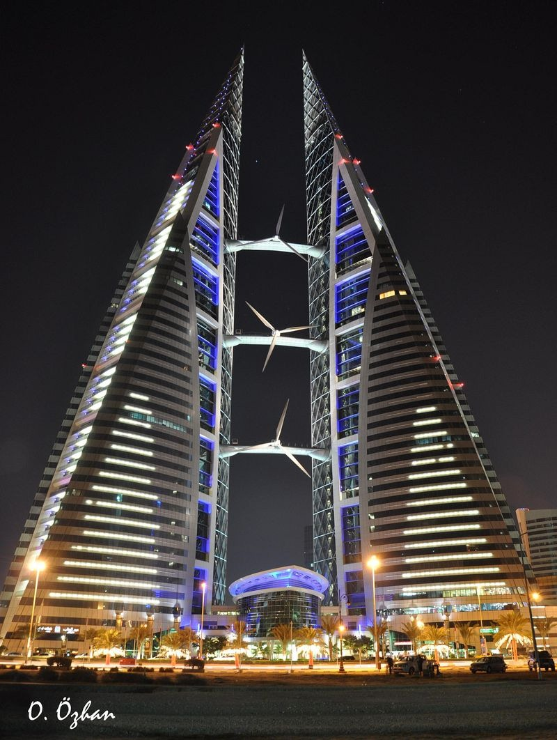 The Bahrain World Trade Center Has Built-In Wind Turbines