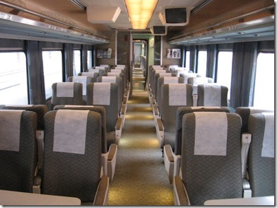 IMG_0704 Amtrak Cascades Talgo Pendular Series VI Coach Class Interior at Union Station in Portland, Oregon on May 10, 2008