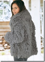 Celtic reversible curly sheepskin jacket