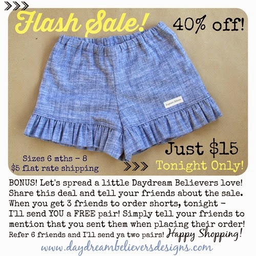 Daydream Believers FLASH SALE Ad