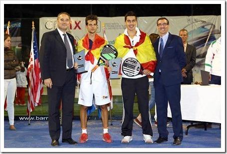 José Carlos Gaspar, actual campeón del mundo del pádel, en la categoría junior.