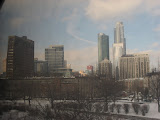 The Chicago skyline seen from the Amtrak window 01142012a