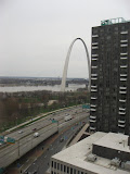 The view of the St Louis Arch outside of our hotel room window 03192011c