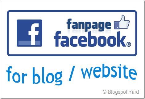 facebook fan page for blog website