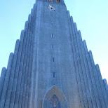 the giant Hallgrímskirkja in Reykjavik, Hofuoborgarsvaeoi, Iceland
