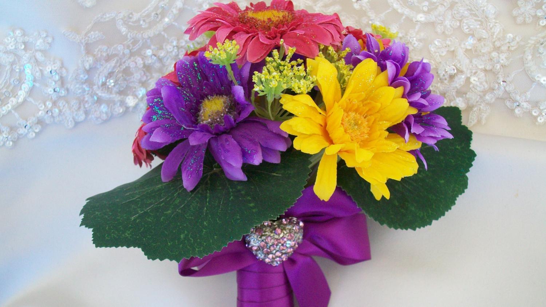Purple Gerber Daisy Wedding Bouquets - Page 2   Purple Gerber Daisy Wedding