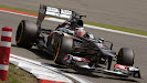 Nico Hulkenberg races the Sauber C32