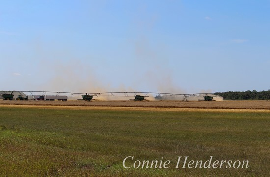 Three combines August 11 2015