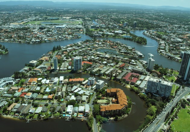 Canal System of Gold Coast, Australia
