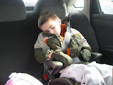 Bryan taking a little cat nap in our rental car in St Louis 03192011