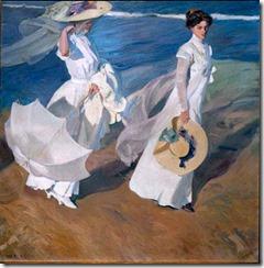 paseo a orillas del mar-pintores y pinturas-blog de juan carlos boveri
