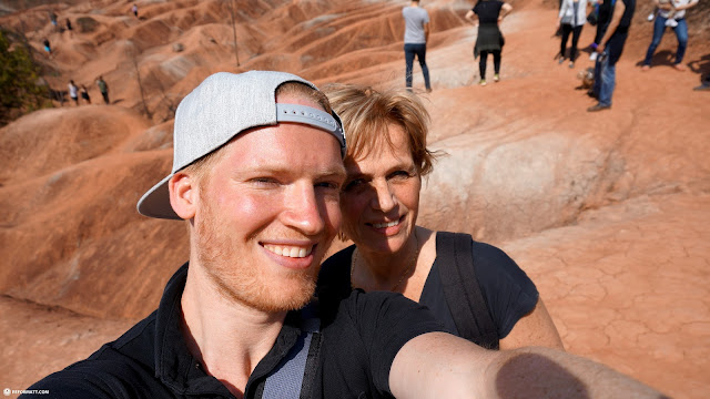 taking my mom to the Cheltenham Badlands in Ontario, Canada in Caledon, Ontario, Canada