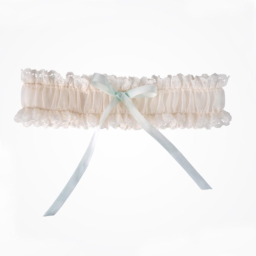 white wedding dress blue