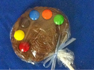 Milk Chocolate turkey Sucker with M and M Candies