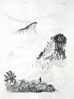 Dej BAO. 029 . Un Chemin dans la Pierre . 1977 .Lithographie . 55 x 36,5 cm