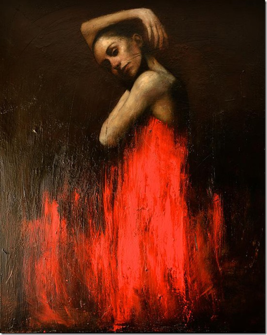 marianela in red-Mark-Demsteader-ENKAUSTIKOS