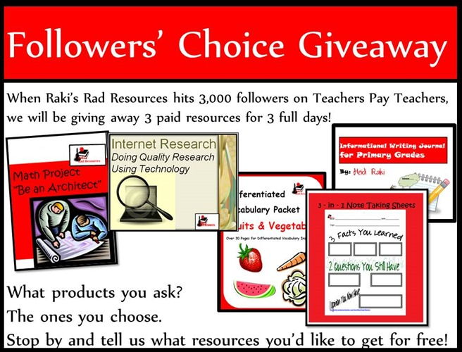 Followers' Choice Giveaway