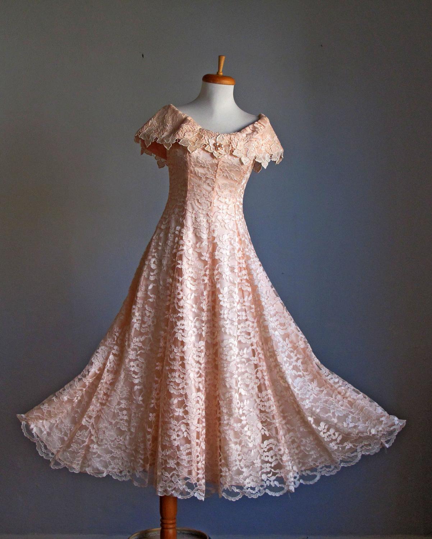 Lace Dress   Pale peach