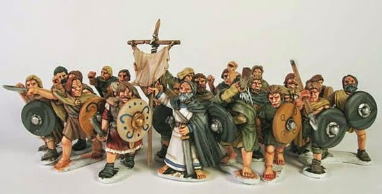 Soldatini inglesi su bande del Medioevo nel Galles