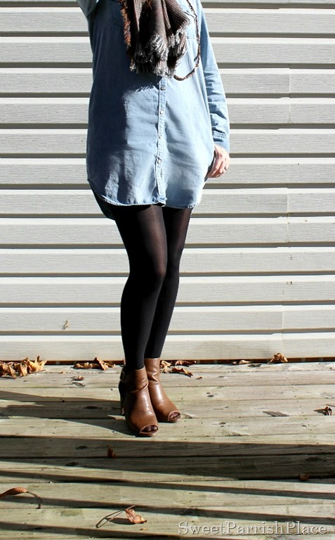 Denim-shirtdress-black-tights-brown-booties-4