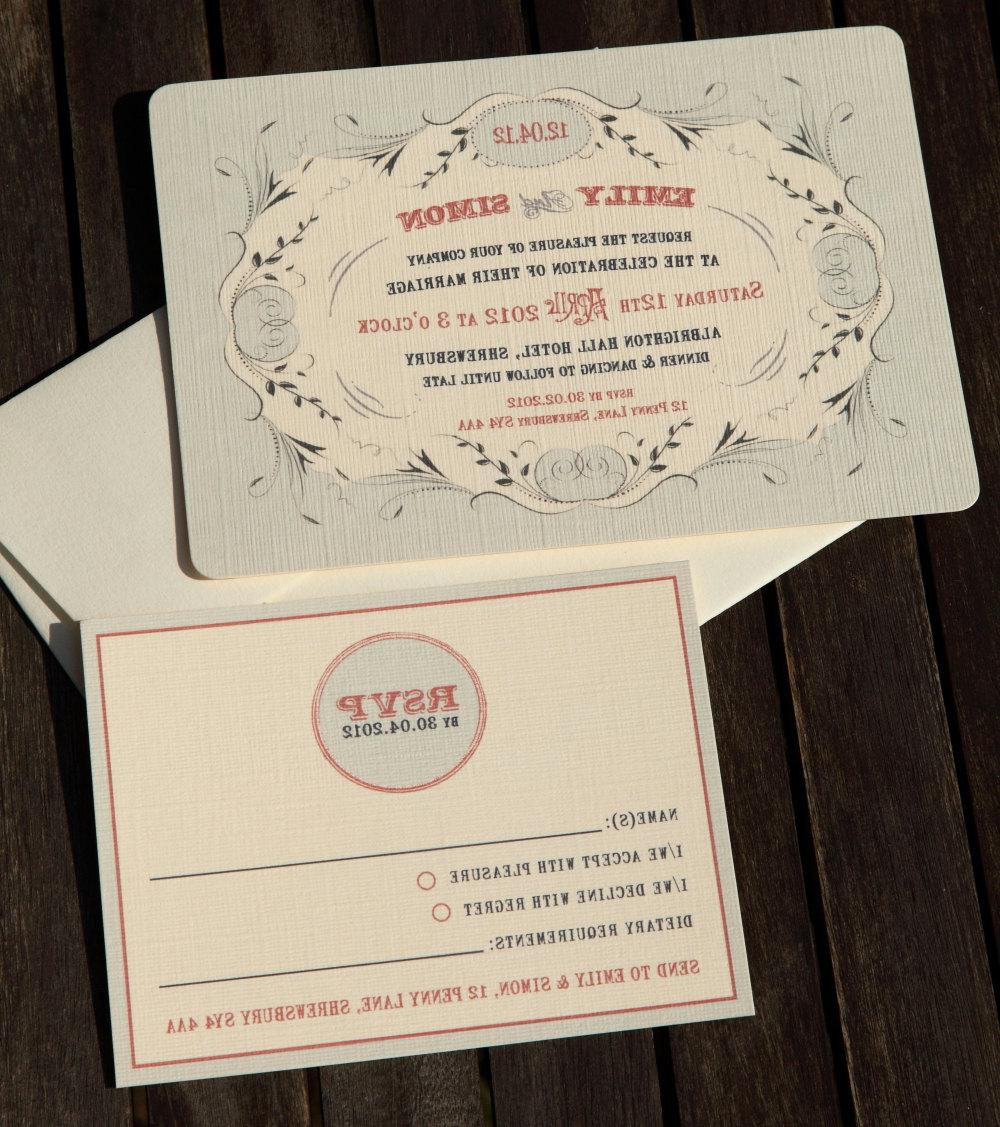 50 Antique Wedding Invitations