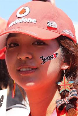 болельщица Дженсона Баттона и McLaren на Гран-при Японии 2012