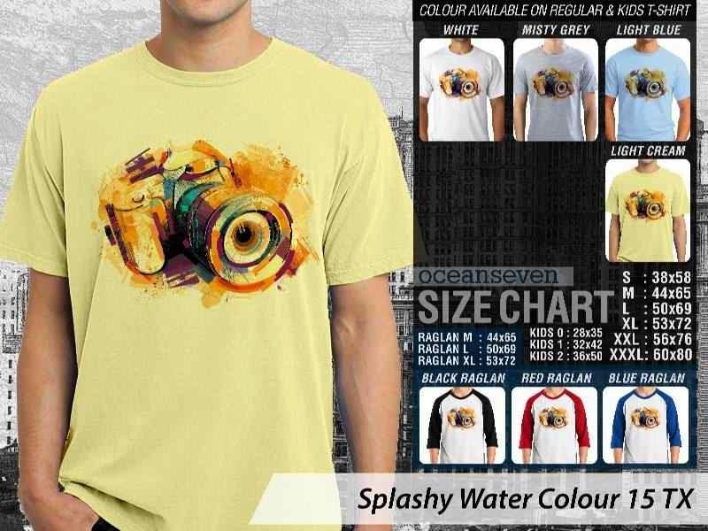 Kaos artwork keren Splashy Water Colour 15 Kamera Camera Photography distro ocean seven