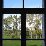 Familistère : musée, vue nord depuis un appartement