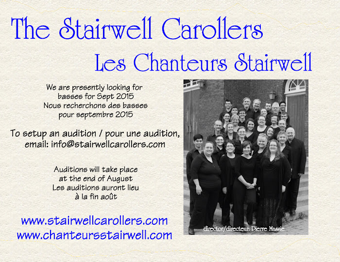 Stairwell Carollers Auditions Fall 2015