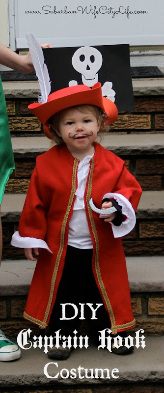 DIY Captain Hook costume