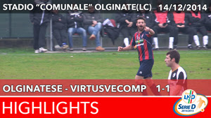 Olginatese - VirtusVecomp - Highlights del 14-12-2014