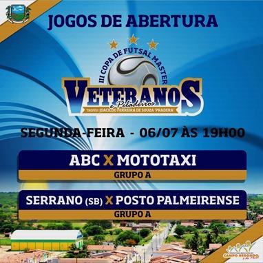 III COPA DE PELADEIROS  - TABELA - 06.07 - CAMPO REDONDO