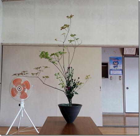 【生花正風体】アブラツツジ、キク