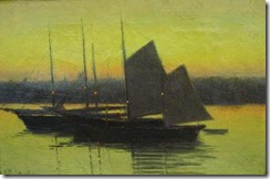richard-buckner-gruelle-barcos-en-el-atardecer-pintores-y-pinturas-juan-carlos-boveri