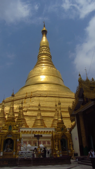 Shwedagon Pagoda - the most important temple in Burma.
