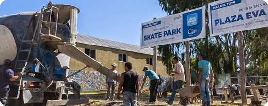 Nuevo SkatePark en Mar del Tuyú cartel