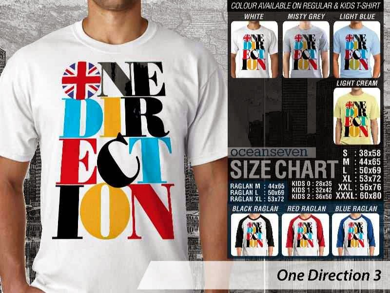 Jual kaos 1D One Direction 15 Musik Boy Band