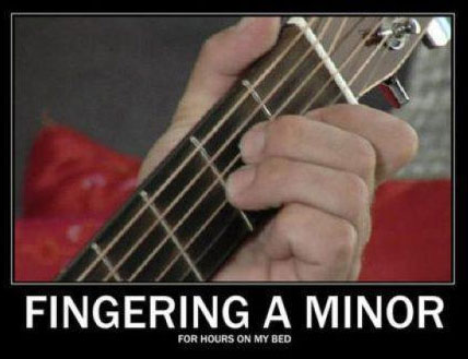 Fingering A Minor for hours on my bed